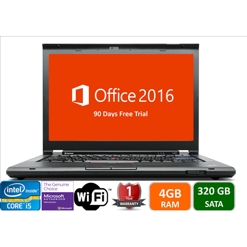 Lenovo T420, Intel i5-2520-2.5, 4GB Memory, 320GB hard Drive, DVD, Win10 pro, 1YW-Refurbished