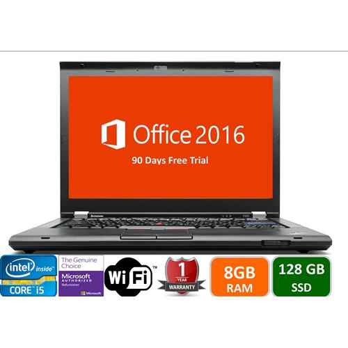 Lenovo T420, Intel i5-2520-2.5, 8GB Memory, 128GB SSD Drive, DVD, Win10 pro, 1YW-Refurbished