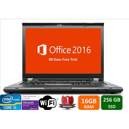 Lenovo T420, Intel i5-2520-2.5, 16GB Memory, 256GB SSD Drive, DVD, Win10 pro, 1YW-Refurbished