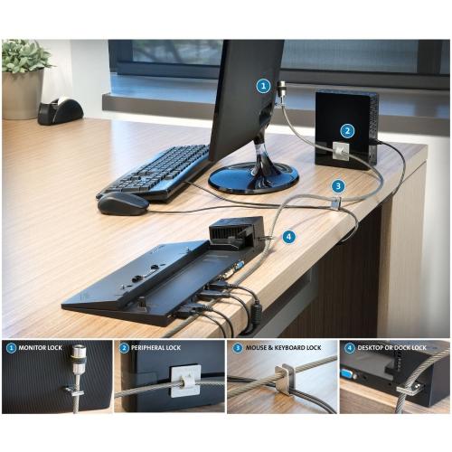 Kensington Desktop PC & Peripherals Lock Kit (64615)