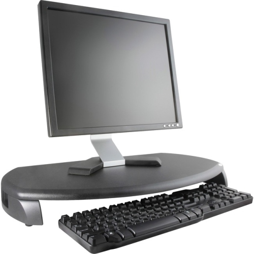 Kantek KTKMS280 Monitor Stand-Kybrd Stor.- 23in.x13-.25in.x3in.- Light-Dark Gray