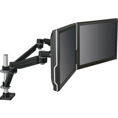 3M MA260MB Easy-Adjust Dual Monitor Arm 4 .5 x 11.5 Black-Gray