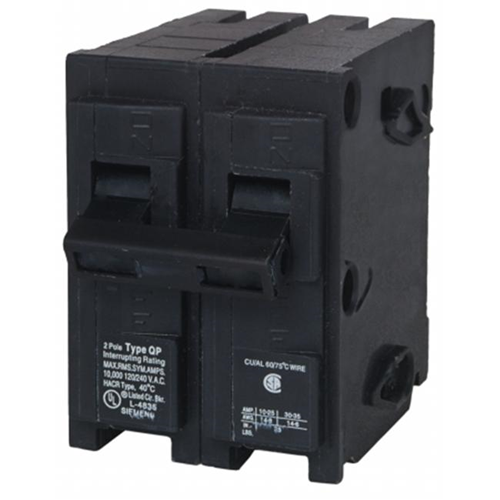 siemens 40 amp dual pole circuit breaker q240 computer power
