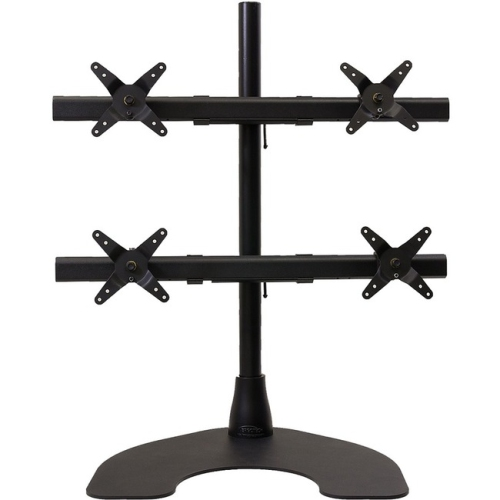 Ergotech 100-D28-B22-HD Ergotech Black Freedom Quad 2 X 2 Desk Stand With 28 in. Pole And Heavy Duty Base