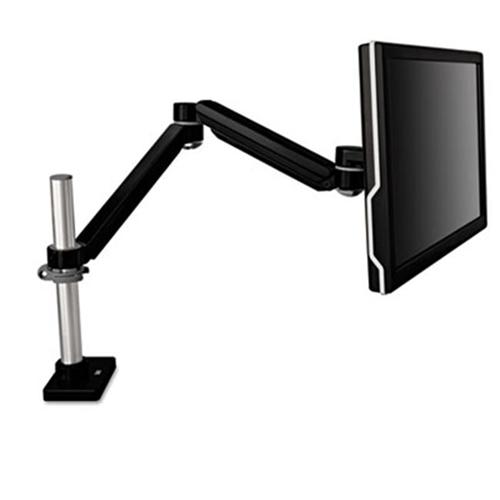 3M MA240MB Easy-Adjust Monitor Arm 4 .5 x 19 .5 Black Gray