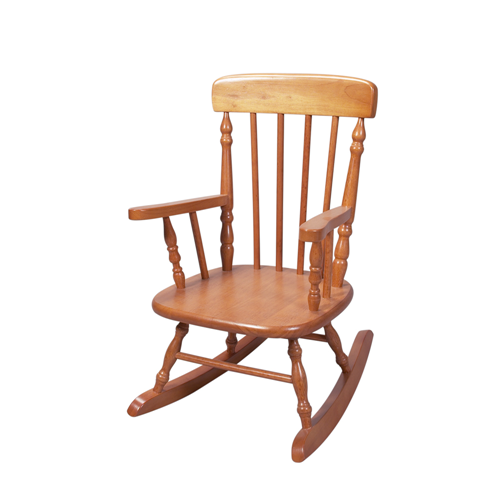 Deluxe Child's Spindle Rocking Chair (Honey)