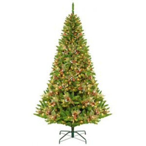 9' Green River Spruce Pre-Lit Artificial Christmas Tree - Clear ...