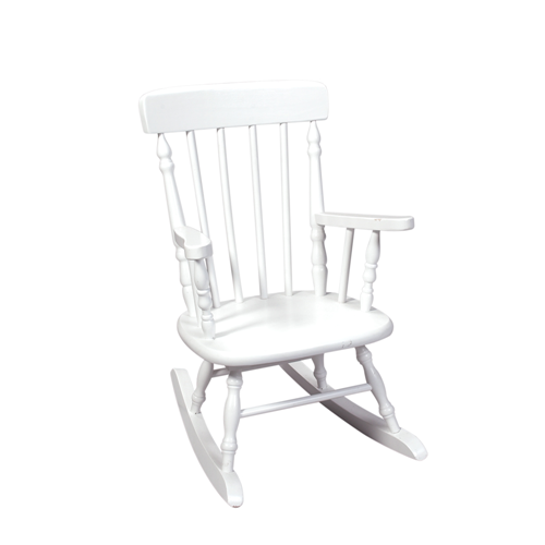 Deluxe Child's Spindle Rocking Chair (White)