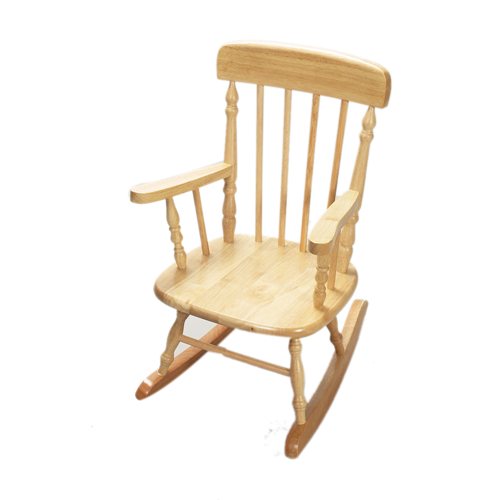 Deluxe Child's Spindle Rocking Chair (Natural)
