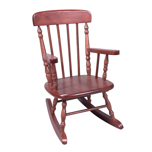 Deluxe Child's Spindle Rocking Chair (Cherry)