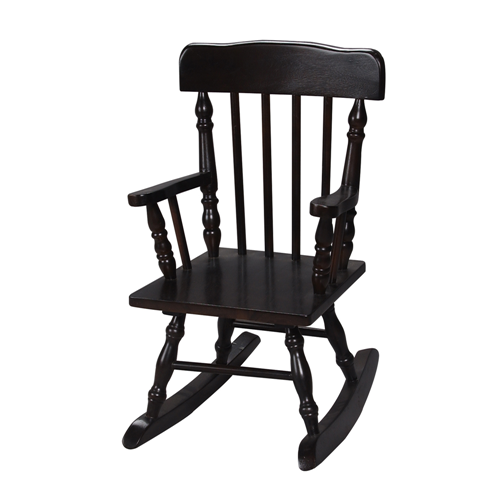 Gift Mark Home Kids Children Resting Colonial Rocking Chair Espresso