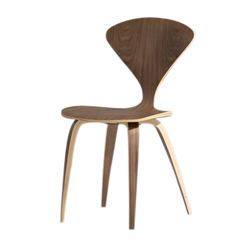 Fine Mod Imports Wooden Side Chair, Walnut