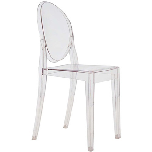 Fine Mod Imports Clear Side Chair, Clear