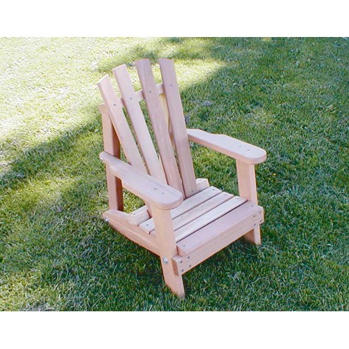 Creekvine Designs Cedar Child Size Wide Slat Adirondack Armchair - Light Brown