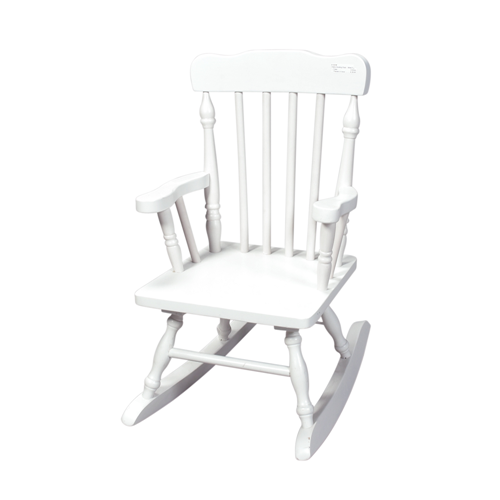 Childs Spindle Rocking Chair (White)