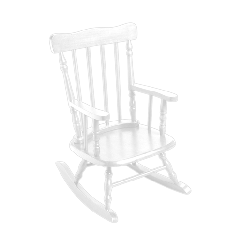 Gift Mark Childrens Rocking Kids & Teens Chair - White