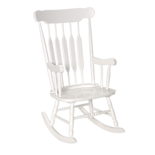 Adult Rocking Chair White Finish