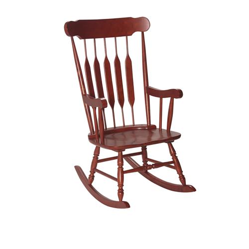 Gift Mark Adult Rocking Armchair - Cherry Finish