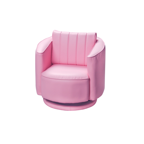 Gift Mark Pink Upholstered Swivel Chair