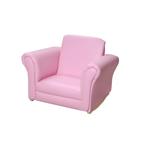 Gift Mark Pink Upholstered Rocking Chair