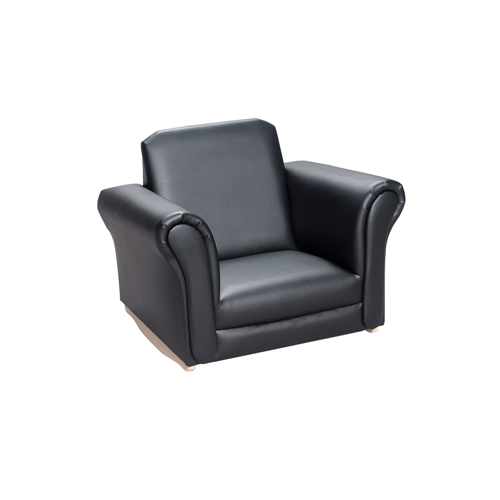 Gift Mark Black Upholstered Rocking Chair