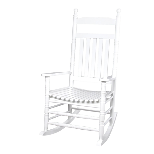 Deluxe Adult Extra Tall Back Rocking Chair White