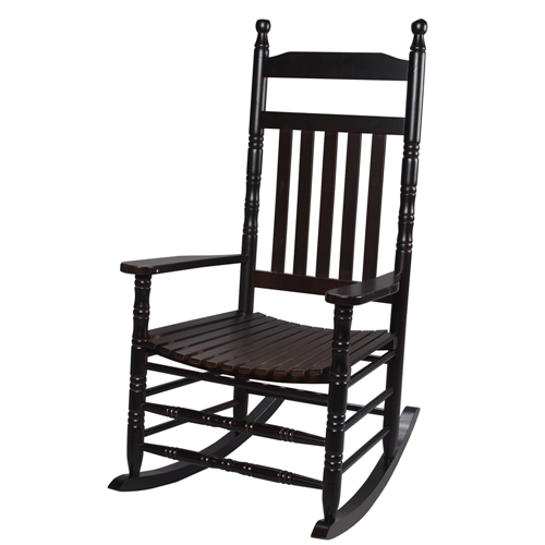 Deluxe Adult Extra Tall Back Rocking Chair Espresso