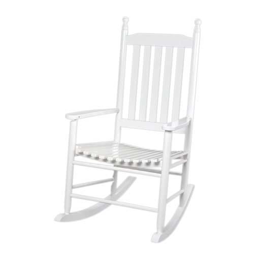Adult Tall Back Rocking Chair White