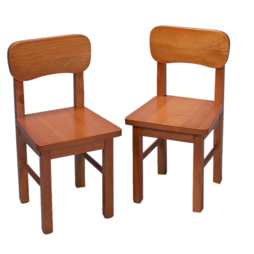 A Pair of Round Chairs Honey