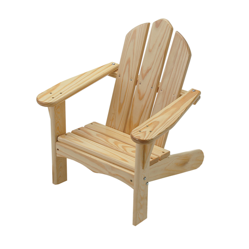 Little Colorado Kids Outdoor Seating Childs Adirondack Chair Sanded and Unfinished