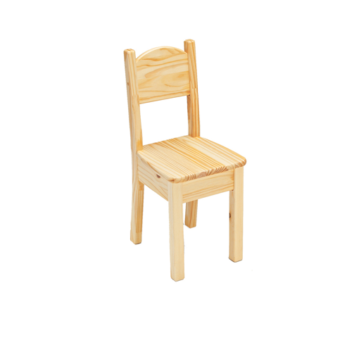 Little Colorado Kids Seating Open Back Chair Natural Laquer