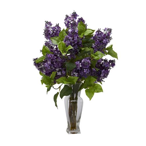 Lilac silk flower arrangement purple artificial flowers plants lilac silk flower arrangement purple artificial flowers plants best buy canada mightylinksfo