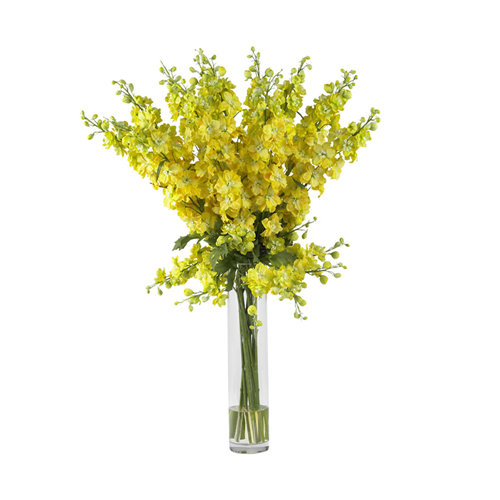 Delphinium silk flower arrangement yellow artificial flowers delphinium silk flower arrangement yellow artificial flowers plants best buy canada mightylinksfo