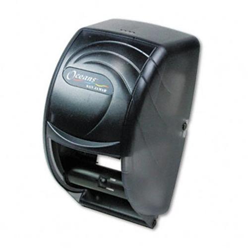 San Jamar R3590TBK Oceans Duett Toilet Tissue Dispenser 7-1/2x7x12-3/4 Transparent Black