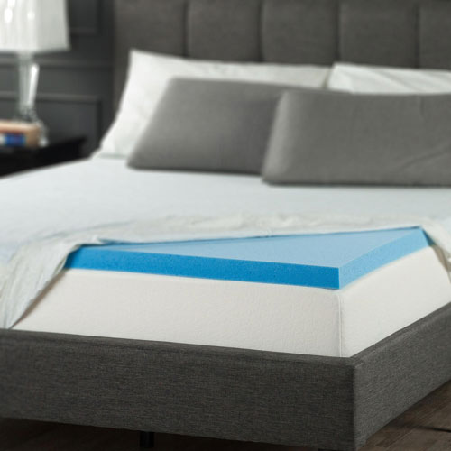 Zinus 2 Gel Memory Foam Mattress Topper Queen Mattress Toppers