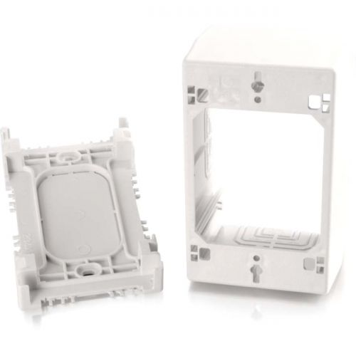 C2G Wiremold Uniduct Single Gang Extra Deep Junction Box - White