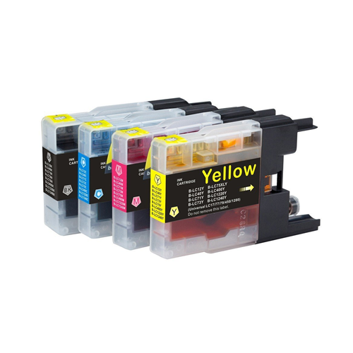 4x Imprimieux Ink Cartridge Set LC75XL BK C M Y Compatible for Brother MFC-J6910CDW J6710CDW J5910C