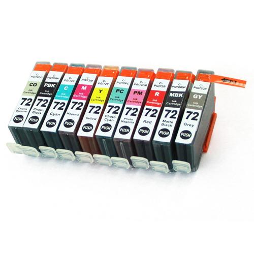 Imprimieux Ink Cartridge Set PGI-72 10 pack set compatible for Canon Pixma Pro-10