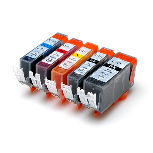 5x Imprimieux Ink Cartridge PGI-225 BK CLI-226 BK C M Y Compatible with Canon PIXMA IX6520 IP4820 IP4920 MG5120 MG5220 MG5320