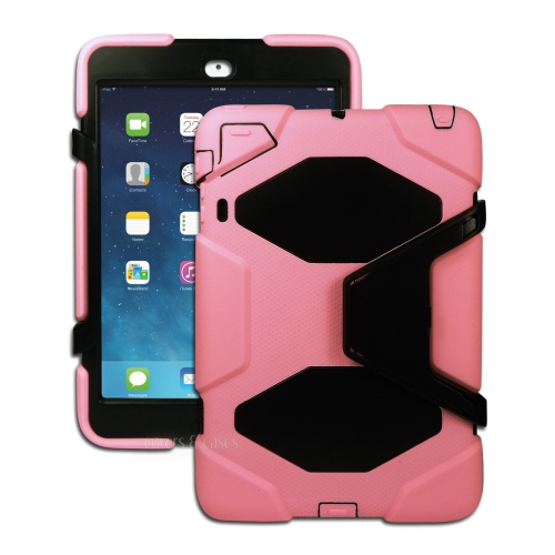 Heavy Duty Shockproof Case W/ Stand for Apple Ipad Mini 1 / 2 - Pink