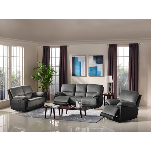 Husky Five Star Comfort Arabia Collection 48PC Fabric Reclining Sofa Set Gray Awesome Online Living Room Furniture Shopping Collection