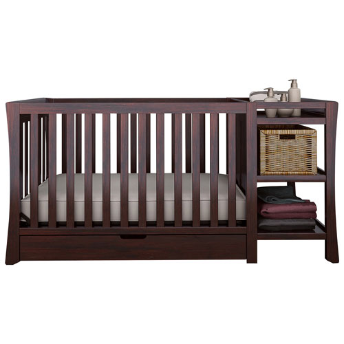 Graco Tatum 4 In 1 Convertible Crib With Drawer Changer Espresso