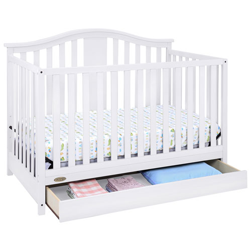 graco solano 4in1 convertible crib with drawer white