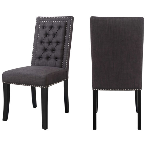 eric contemporary polyester dining chair set of 2 charcoal chairs best buy canada furniture chair set r96 furniture