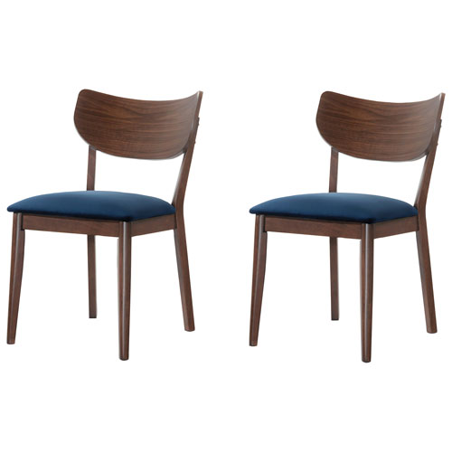 Bon Rosie Modern Polyester Casual Dining Chair   Set Of 2   Navy : Dining Chairs    Best Buy Canada