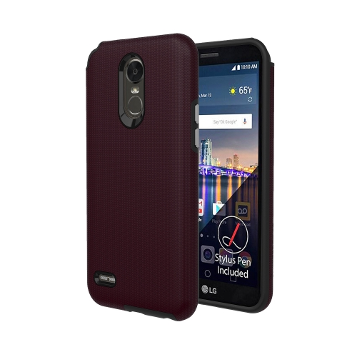 Axessorize Protech Case LG Stylo 3 Plus Rouge Bourgogne