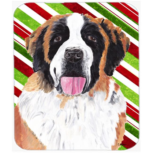 Carolines Treasures SC9342MP Saint Bernard Candy Cane Holiday Christmas Mouse Pad Hot Pad or Trivet