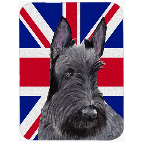 Carolines Treasures SC9843MP 7.75 x 9.25 In. Scottish Terrier With English Union Jack British Flag Mouse Pad Hot Pad Or Trivet