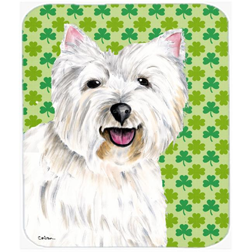 Carolines Treasures SC9290MP Westie St. Patricks Day Shamrock Portrait Mouse Pad Hot Pad or Trivet