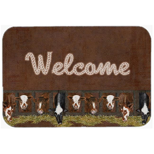 Carolines Treasures SB3058MP 7.75 x 9.25 In. Welcome Mat With Cows Mouse Pad Hot Pad Or Trivet